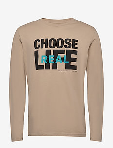 Jeff long sleeve - long-sleeved t-shirts - khaki