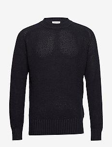 Kevin sweater - basic knitwear - navy