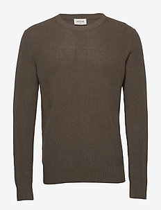 Falcon sweater - basic-strickmode - moss