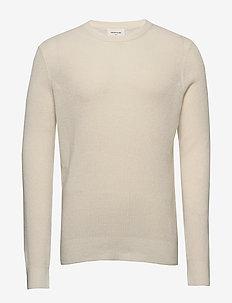 Falcon sweater - podstawowa odzież z dzianiny - off-white