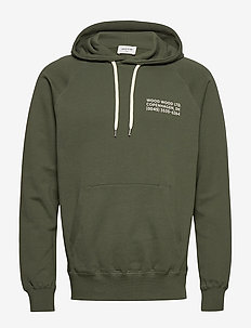 Fred hoodie - basic sweatshirts - dark green
