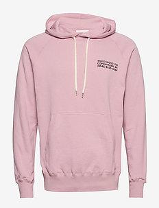 Fred hoodie - podstawowe bluzy - lilac