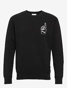 Hugh sweatshirt - perus-college-paitoja - black
