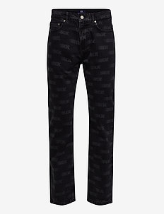 Gil jeans - relaxed jeans - black aop