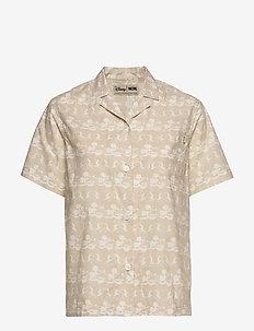 Johanne shirt - BEIGE AOP