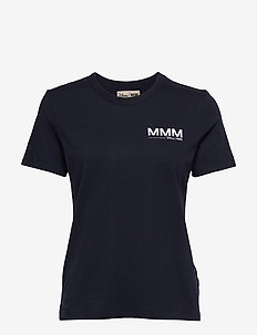 Aria T-shirt - t-shirts med tryk - navy