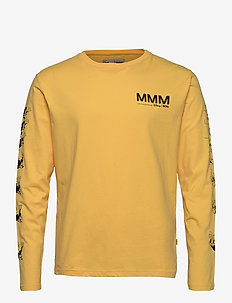 Peter long sleeve - perus t-paidat - yellow
