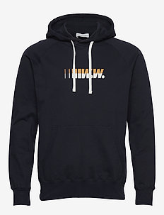 Fred hoodie - bluzy z kapturem - navy