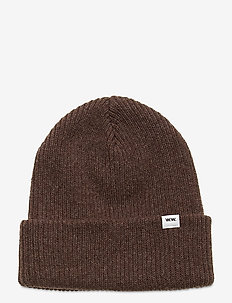 Mande beanie - huer - dark brown