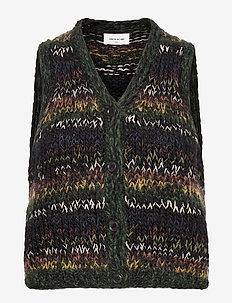 Nina vest - gebreide vesten - multicolor