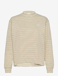 Astrid long sleeve - langærmede toppe - green stripes
