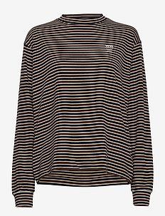 Astrid long sleeve - langærmede toppe - navy stripes