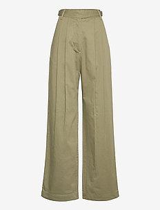 Sirid trousers - bukser med brede ben - moss
