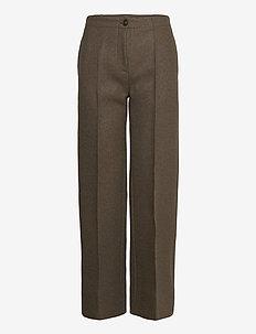 Marlena wool trousers - bukser med lige ben - dark green