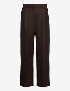 Sophie trousers - wide leg trousers - black check