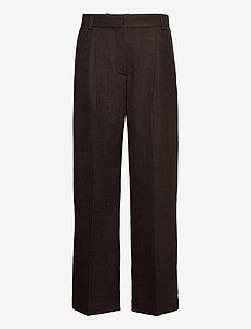 Sophie trousers - bukser med brede ben - black check