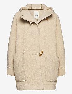 Sif duffle coat - uldfrakker - light beige