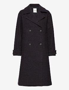 Phoebe coat - wollen jassen - brown check