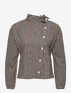 Veronika blouse - langærmede bluser - navy check