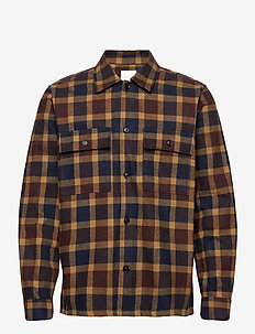 Franco shirt - overshirts - navy check