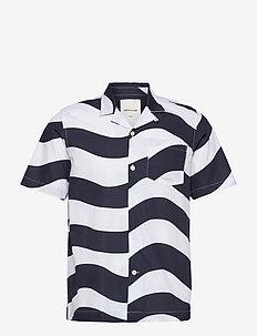 Brandon shirt - kortermede skjorter - white aop