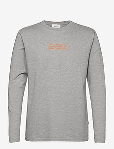 Peter long sleeve - basic t-shirts - grey melange