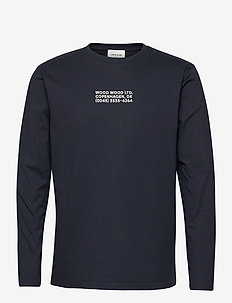Peter long sleeve - basic t-shirts - navy