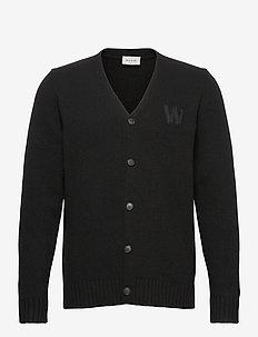Kalle cardigan - basic gebreide truien - black