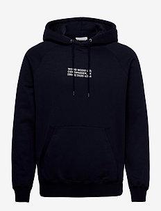 Fred hoodie - basic sweatshirts - navy