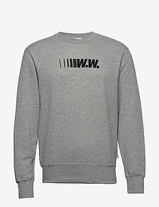 Hugh sweatshirt - basic sweatshirts - grey melange