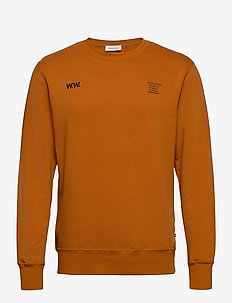 Hugh sweatshirt - basic sweatshirts - orange