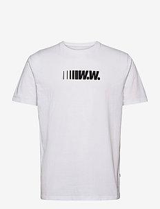 Split T-shirt - kortærmede t-shirts - bright white
