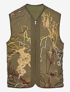 Victor vest - vests - green aop