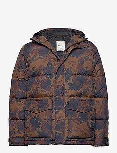 Sander jacket - fôrede jakker - khaki aop