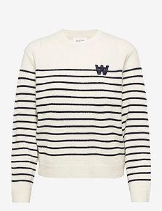Anneli lambswool jumper - trøjer - off-white stripes