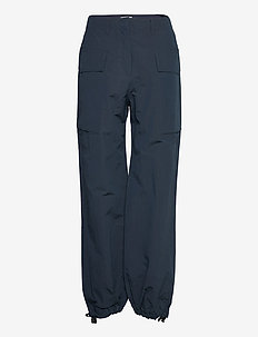 Malou nylon trousers - casual bukser - navy