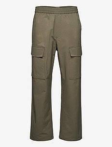 Halsey tech trousers - cargobukser - dusty green