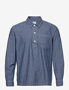 Albert chambray shirt - oxford-skjortor - blue