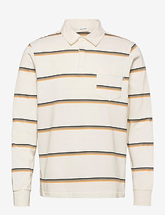 Beck polo long sleeve - langärmelig - off-white stripes