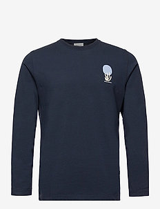 Peter fruit long sleeve - podstawowe koszulki - navy