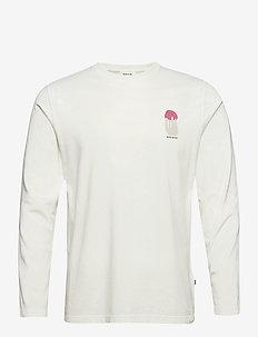 Peter shroom long sleeve - podstawowe koszulki - off-white