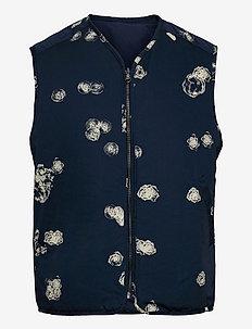 Victor graphic vest - vesten - blue aop