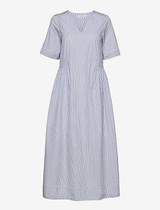 Nova poplin dress - everyday dresses - blue stripes
