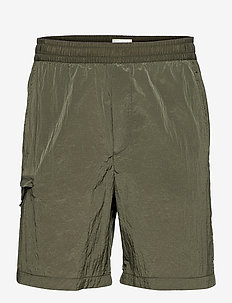 Ollie nylon shorts - cargo shorts - olive