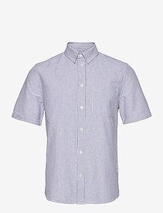 Michael oxford shirt SS - koszule lniane - blue stripes