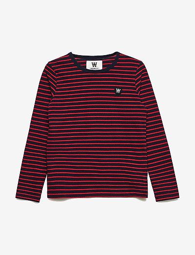 Kim kids long sleeve - långärmade - navy/red stripes