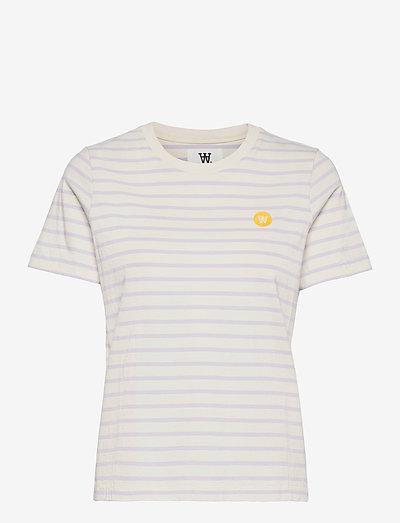 Mia T-shirt - t-shirts - off-white/lilac stripes