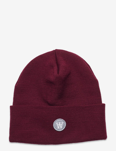Gerald tall beanie - czapki i kapelusze - dark red