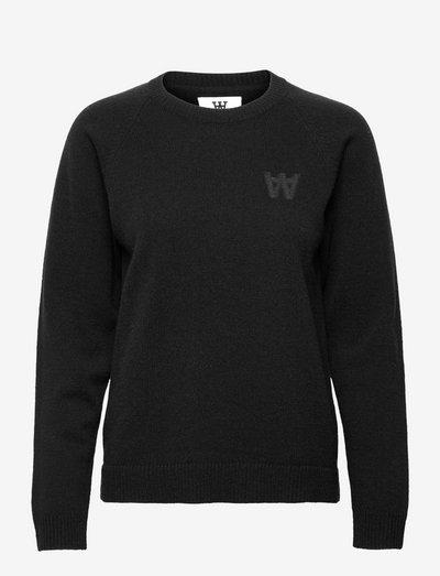 Asta lambswool jumper - trøjer - black