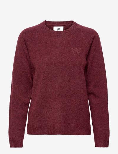 Asta lambswool jumper - trøjer - dark red